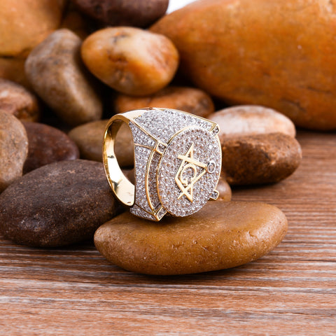 Men's Arena Gold Plated 925 Sterling Silver Ring  |  9211082 - Queen Bunnybee's Gifts