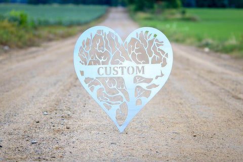Heart - Tree of Life Monogram - Queen Bunnybee's Gifts