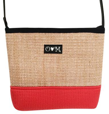 MJB Red yoga mat and Jute Yoga mat cross body - Queen Bunnybee's Gifts