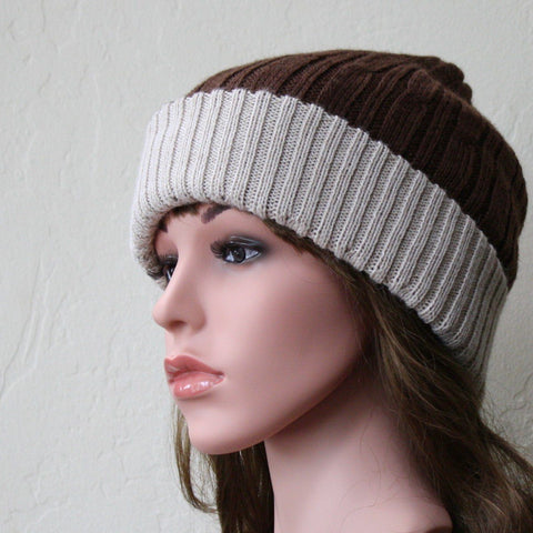 Reversible Cabled 100% Alpaca Knit Hat - Queen Bunnybee's Gifts