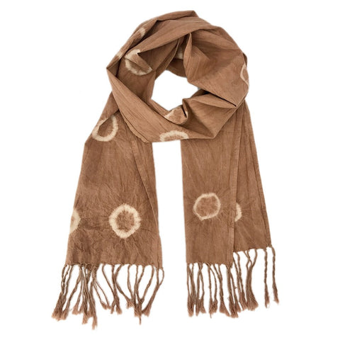 Soft Almond Tie Dyed Circle Scarf - Queen Bunnybee's Gifts