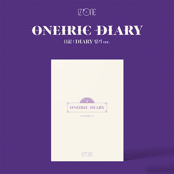 IZ*ONE 3rd Mini Album - ONEIRIC DIARY (DIARY Ver.) CD + Poster
