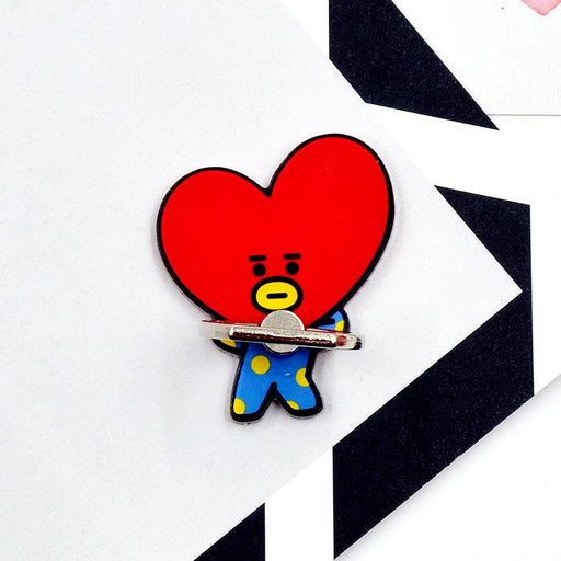 BT21 Official Merchandise by Line Friends - TATA Cell Phone Stand Ring Holder