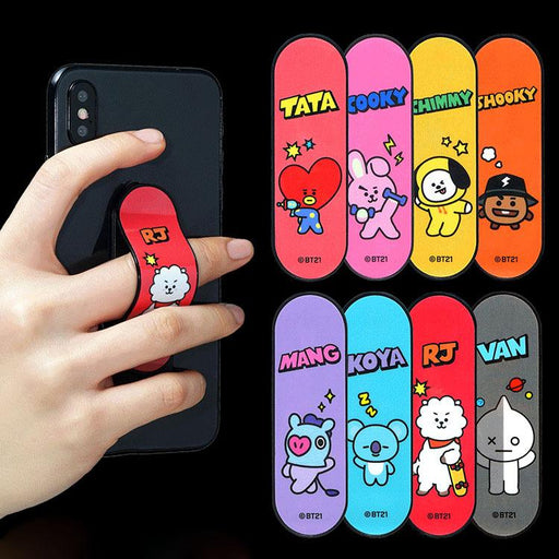 BT21 Official Merchandise by Line Friends -BT21 Cell Phone Stand Ring Grip Holder