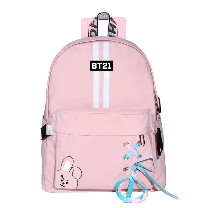 BTS Merch - BT21 RJ Bangtan Boys Carton Backpack RJ  Backpacks For School