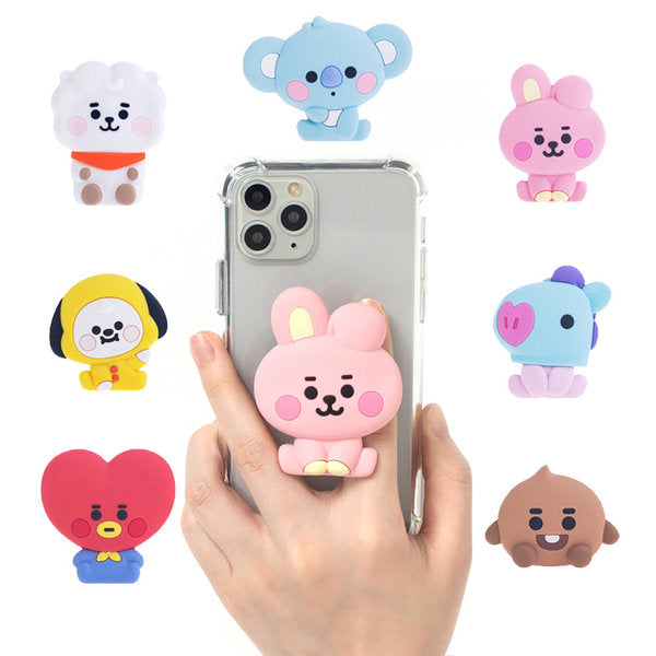 [BT21] Baby Bubbley Pop Talk Grip Cell Phone Holder TATA