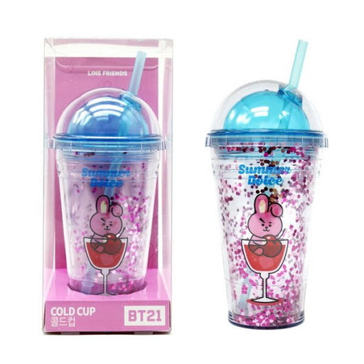 [BT21] Glitter Cold Cup COOKY Cookie LINE Friends Official Collaboration