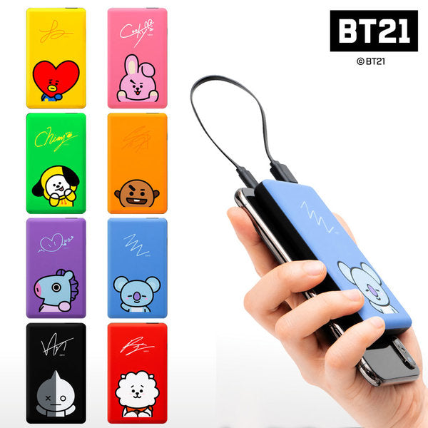 [BT21] BT21 Genuine Goods 5000 auxiliary battery 5pin cable included