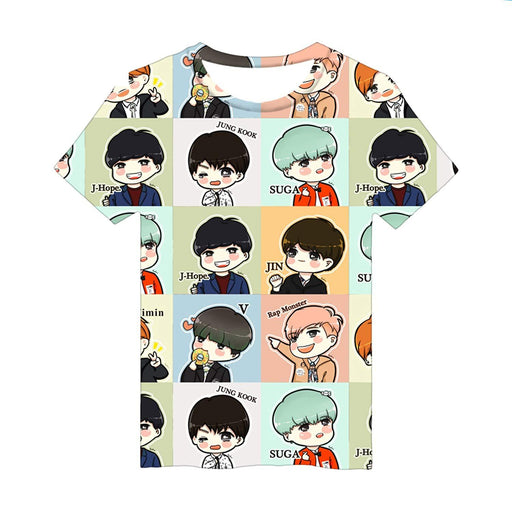 JUNG KOOK Kpop BTS 3D Print T-Shirt SUGA J-Hope Jimin JIN V Couple Shirt
