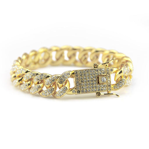 Iced Out 18K Gold Bracelet