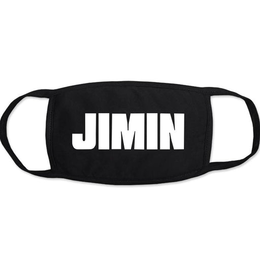 BTS Jimin Merch - BTS Jimin Name On Mask