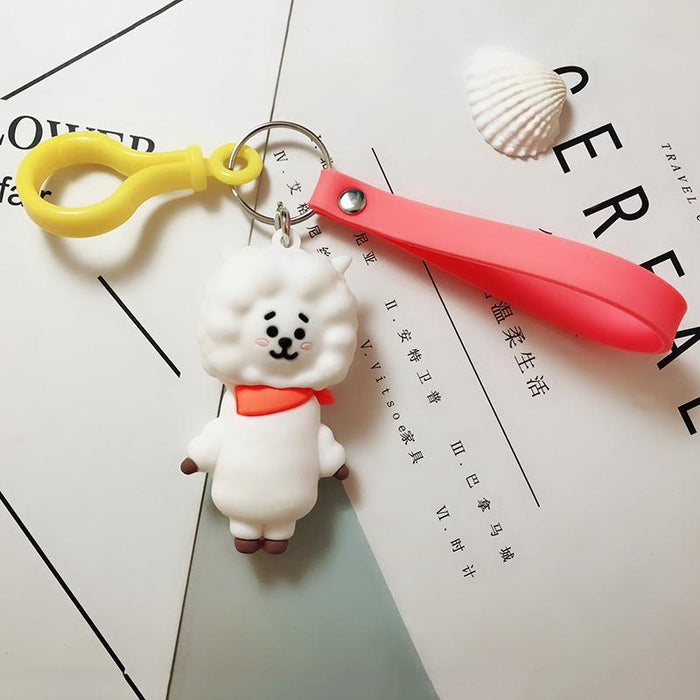 BT21 Official Merchandise  -RJ Keychain Ring