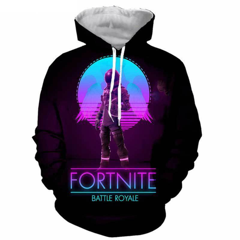 Galaxy Skull Troop Game Fortnite Galaxy Oversized Printed Hoodie SY003