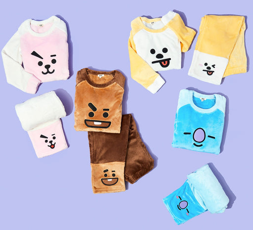 Bangdan Boys BT21 Furry Pajama Set