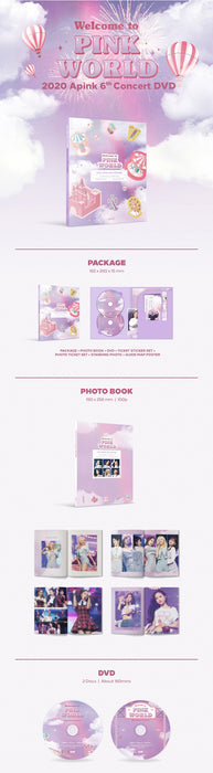 APINK 6TH CONCERT [WELCOME TO PINK WORLD] DVD (2 DISC)