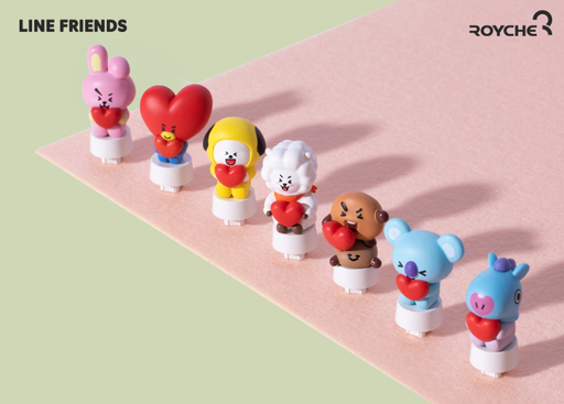 BT21 X ROYCHE RETRO KEYBOARD FIGURE KEYCAP