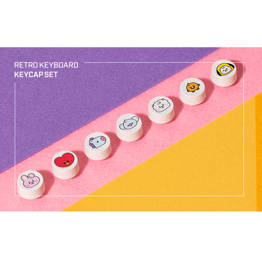 BT21 X ROYCHE RETRO KEYBOARD KEYCAP SET BABY VER.
