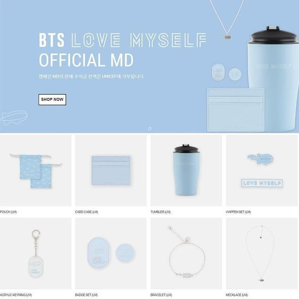 BTS LOVE MYSELF CAMPAIGN OFFICIAL MD