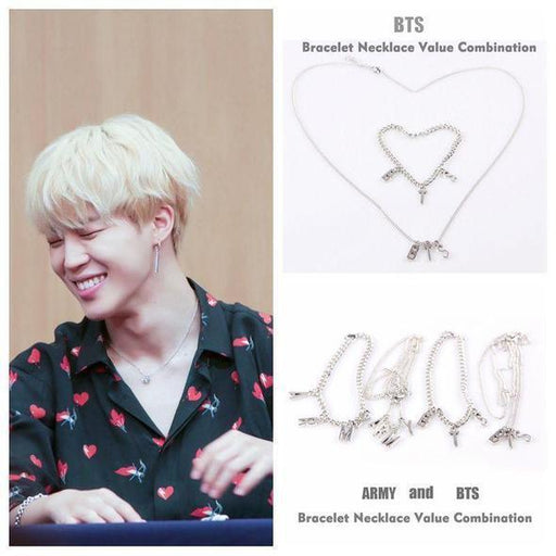 "BTS Jimin Merch -""BTS X ARMY"" NECKLACES"