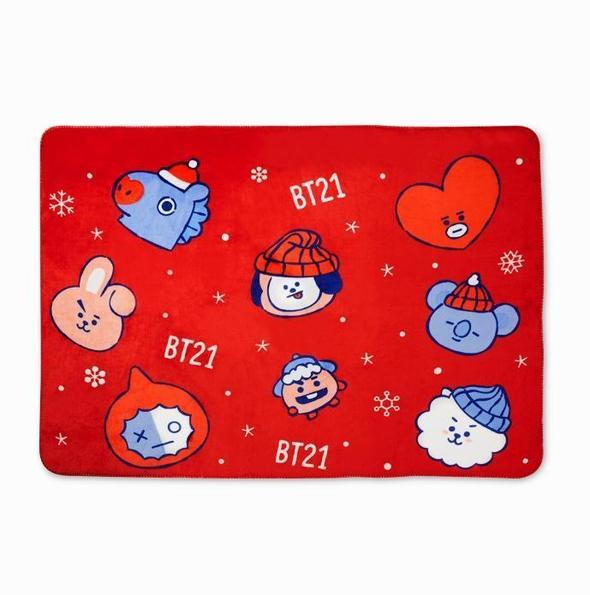 LINE FRIENDS OFFICIAL BT21 CHRISTMAS BLANKET