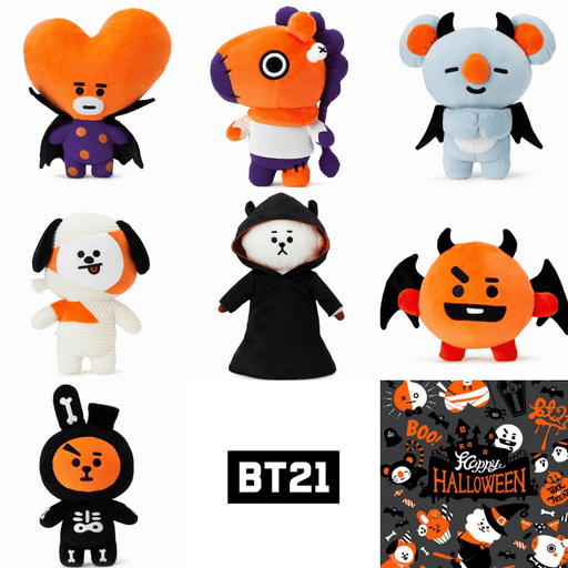 LINE FRIENDS OFFICIAL BT21 HALLOWEEN STANDING DOLLS