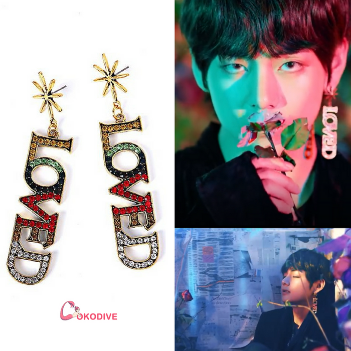 "BTS Love Yourself ""LOVED SINGULARITY"" EARRINGS"