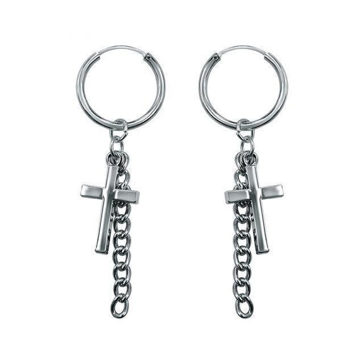 "BTS Suga Merchandise - BTS ""SUGA""S FUNK CROSS"" EARRINGS"