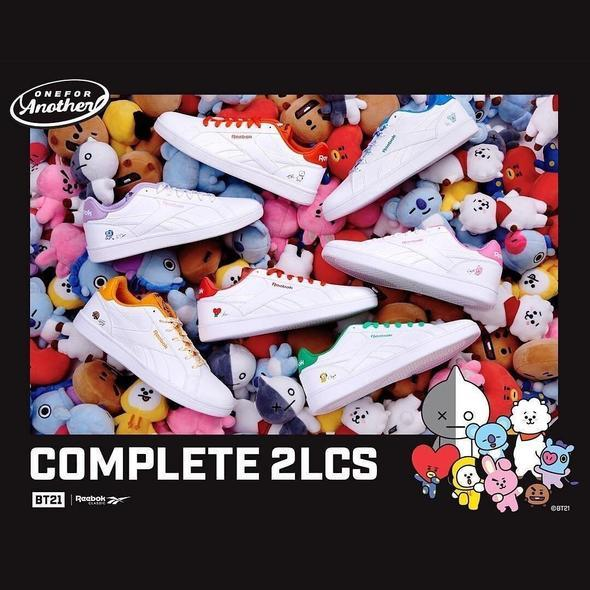 REEBOK X BT21 ROYAL COMPLETE 2LCS