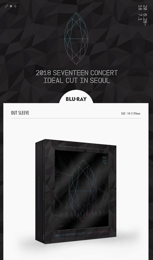 EVENTEEN - 2018 CONCERT IN SEOUL [IDEAL CUT] BLU-RAY