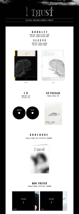 [SET] (G)I-DLE 3rd Mini Album - I trust (SET Ver.) 2CD + 2Poster