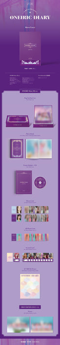 IZ*ONE 3rd Mini Album - ONEIRIC DIARY (3D Ver.) CD + Poster