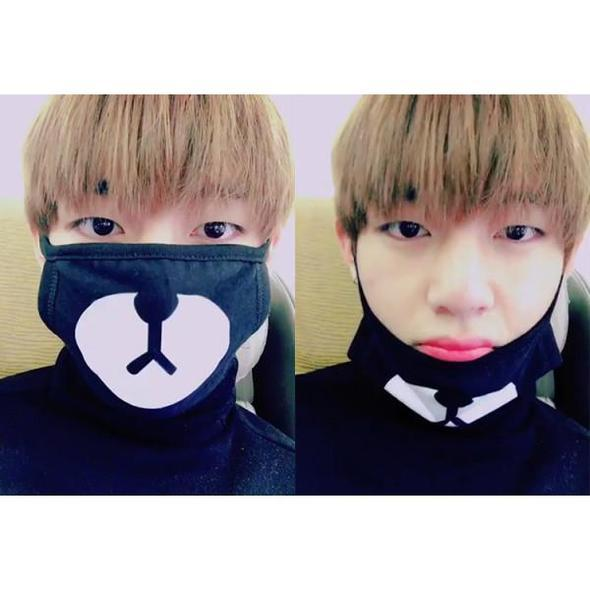 """EXO CHAN YEOL CUTIE BEAR"" ANTI-DUST MASK"