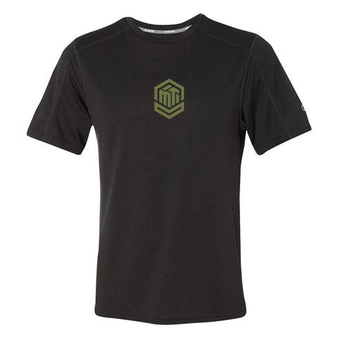 MTI Logo Tee - Guy Black Heather Sweepstakes