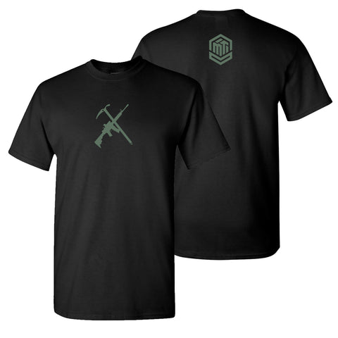Ice Ax/AR - Black w/Green Print