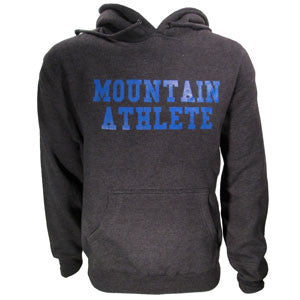 "Mountain Athlete Hoodie ""Respect"" - Dark Heather Grey"