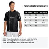 Military Athlete - Mens Performance Tee - Charcoal/Black Heather