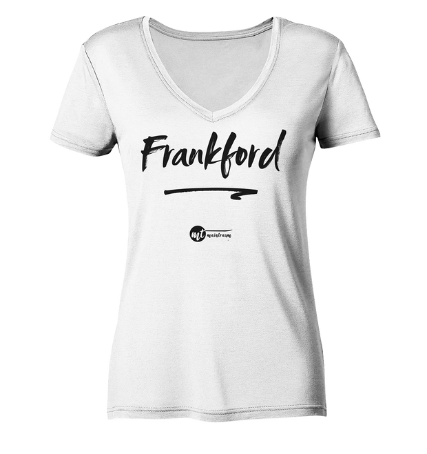 MAINTRAUM FRANKFORD - Women Organic V-Neck Shirt