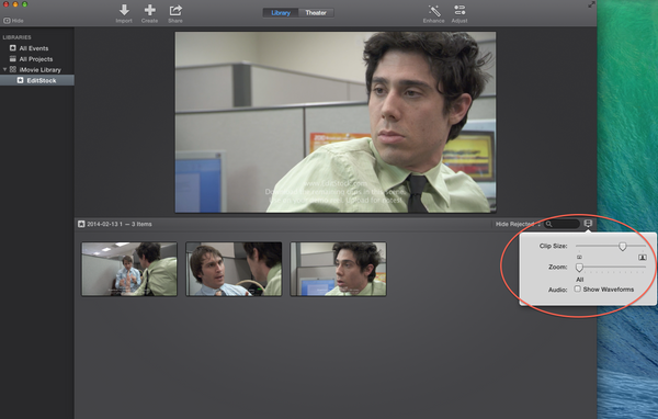 Resize clips in iMovie