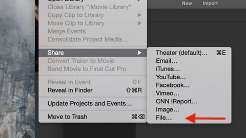Exporting With iMovie