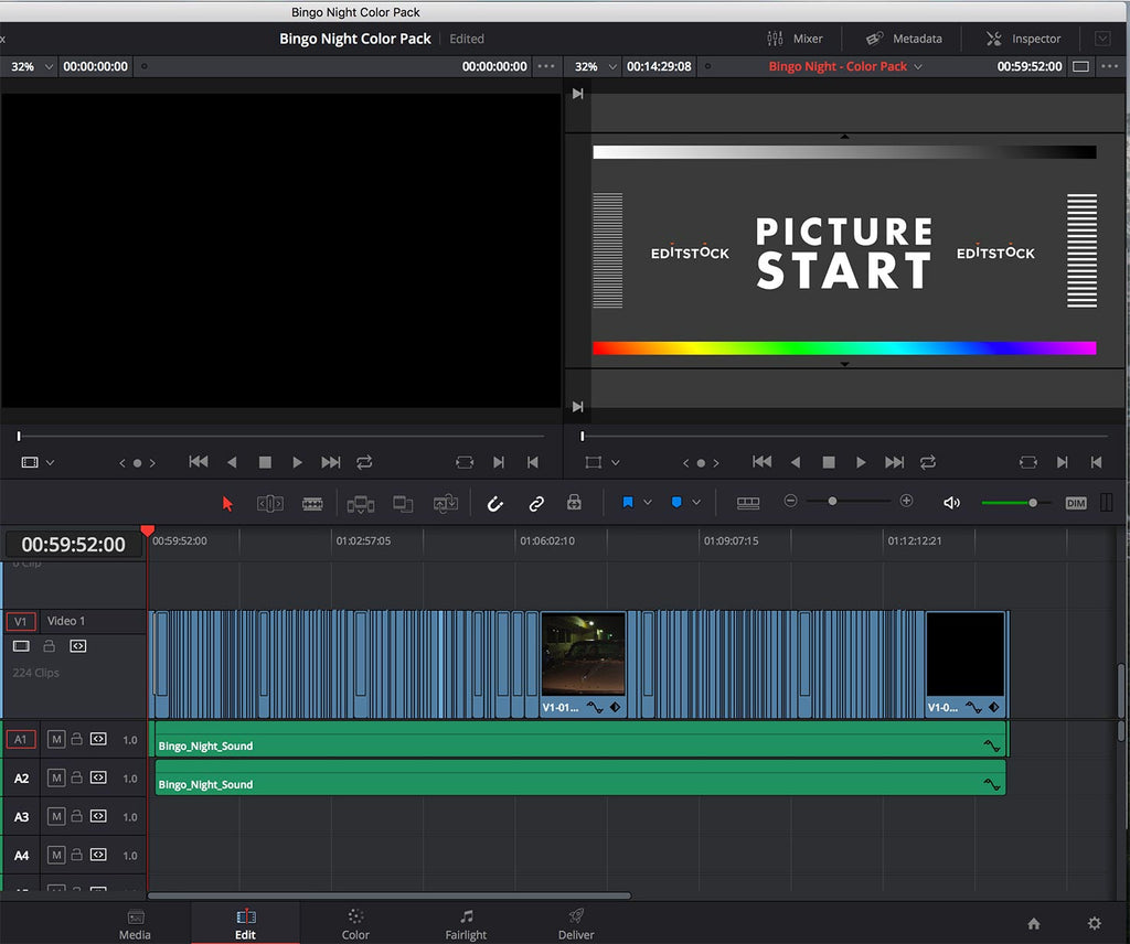 EditStock Color Pack DaVinci Resolve