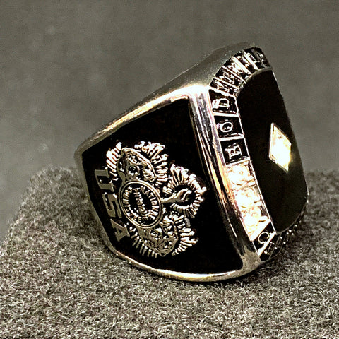 "MEN'S SWAROVSKY NPC / IFBB ""BODYBUILDING CHAMPION"" RING"