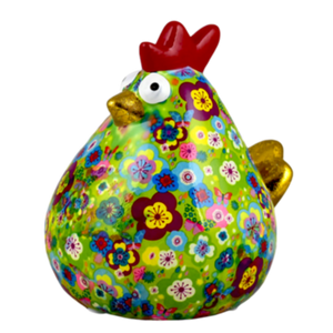 Salvadanaio Gallina in Ceramica - mod Colors