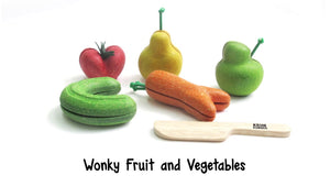 Wonky Fruits and Vegetables in Legno