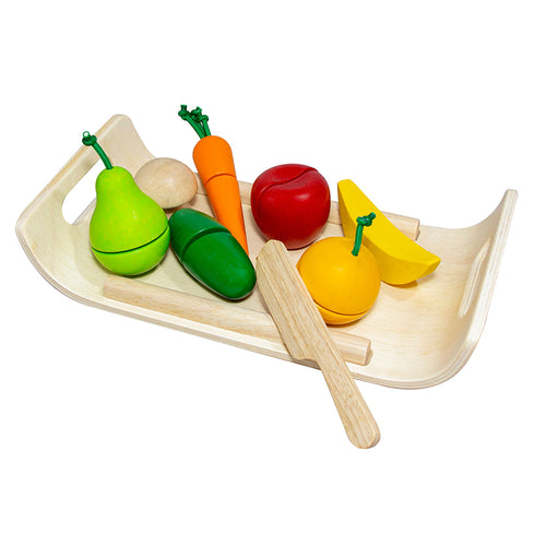 Assorted Fruits and Vegetables in Legno