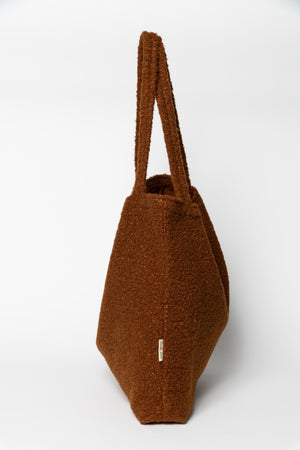 Cacao Bouclé mom-bag
