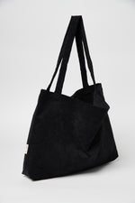 All black rib mom-bag