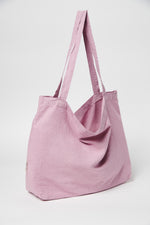 Blush linen mom-bag