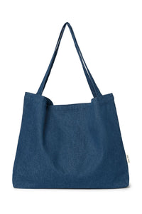 Dark denim mom-bag