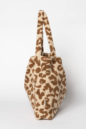 Teddy leopard ecru mom-bag