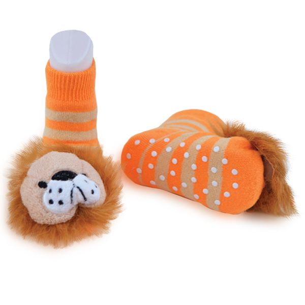 Lion Rattle Boogie Toes Rattle Sock